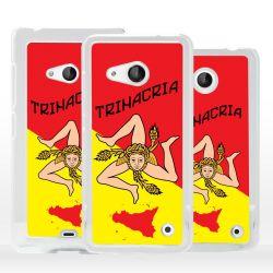 Cover bandiera Sicilia Trinacria per Microsoft Nokia Lumia