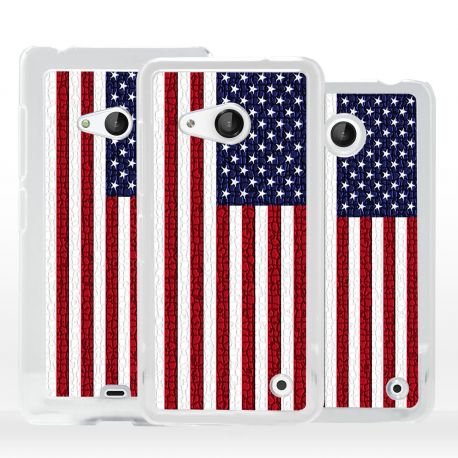 Cover bandiera USA Stati Uniti per Microsoft Nokia Lumia