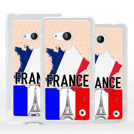 Cover bandiera Francia per Microsoft Nokia Lumia