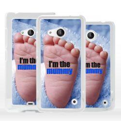 Cover regalo nascita bimbo per Microsoft Nokia Lumia