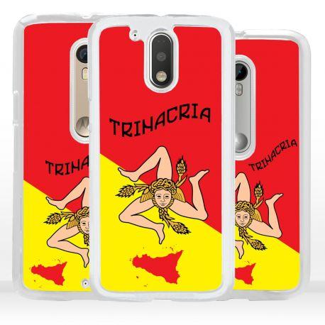 Cover bandiera Trinacria Sicilia per Motorola