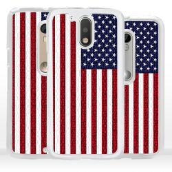 Cover bandiera USA Stati Uniti per Motorola