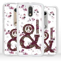 Cover per Motorola simbolo Peace and Love