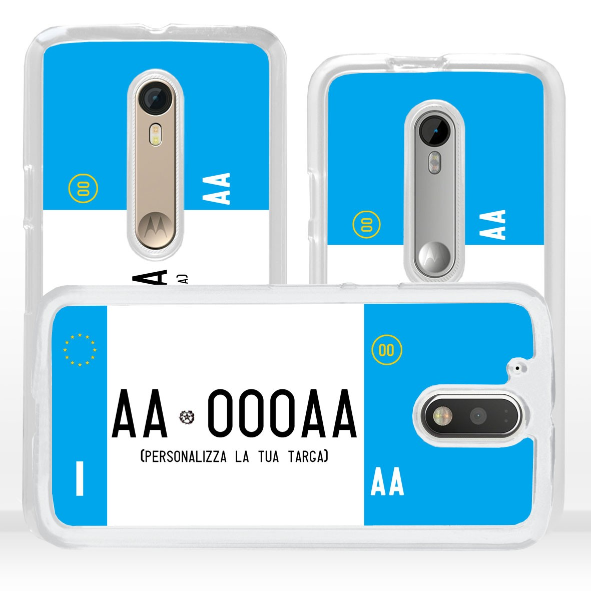 Cover custodia targa auto moto personalizzata per iPhone Apple
