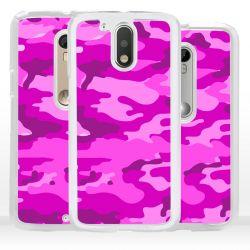 Cover per Motorola mimetica rosa