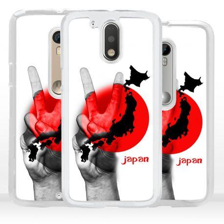 Cover bandiera Giappone per Motorola