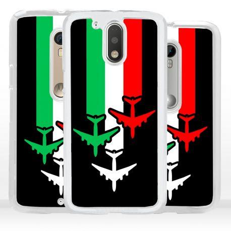 Cover aeroplani tricolore per Motorola