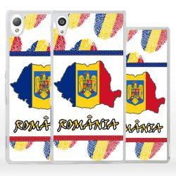 Cover bandiera Romania per Sony Xperia