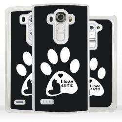 Cover amo i gatti per LG