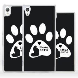 Cover amo i gatti per Sony Xperia