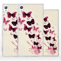 Cover farfalle per Sony Xperia