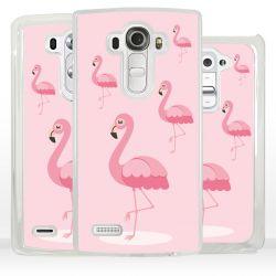 Cover fenicottero rosa per LG