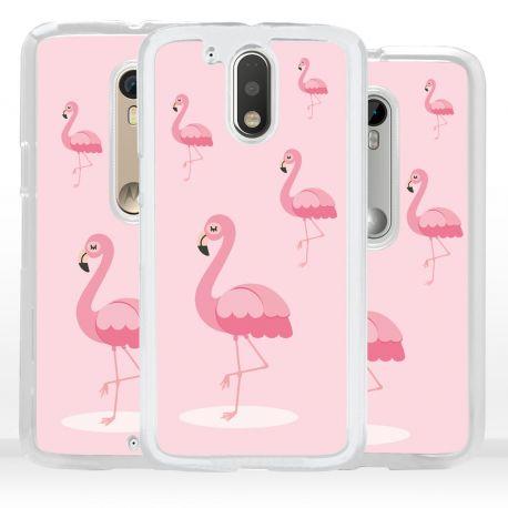 Cover fenicottero rosa per Motorola