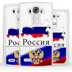 Cover bandiera Russia per LG