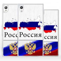 Cover bandiera Russia per Sony Xperia