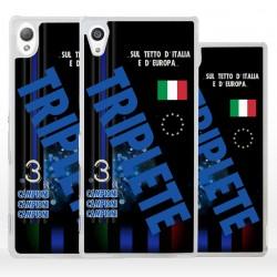 Cover Triplete nerazzurro per Sony Xperia