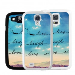 Cover con frase live laugh love per Samsung