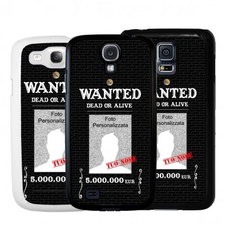 Cover personalizzata wanted ricercato per Samsung