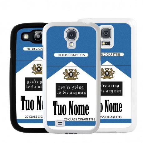 Cover pacchetto sigarette con nome per Samsung