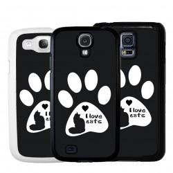 Cover amo i gatti per Samsung