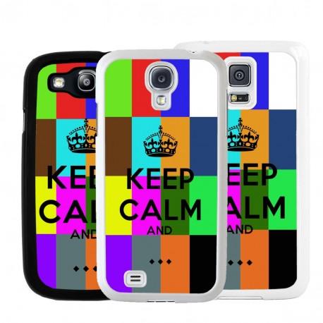 Cover per Samsung in tema Keep Calm personalizzato