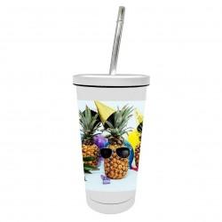 Bicchiere personalizzato con cannuccia
